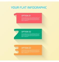 Flat Design Number vector image