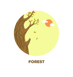Forest tree landscape icon for travel vector