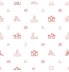Fortress icons pattern seamless white background vector