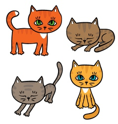 Four little kittens vector image