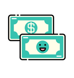 Funding lineal color icon vector