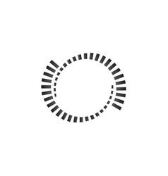 geometric circle element monochrome circle shapes vector image