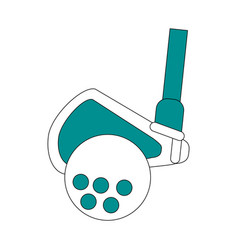 golf related icon image vector image