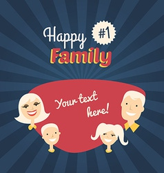 Happy Family Mom Son Dad and Daughter Flat Design vector