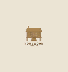 Home house simple wood culture vintage logo icon vector
