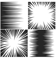 Horizontal and radial speed lines graphic manga vector