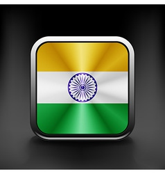 India icon flag national travel icon country vector