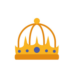 Isolated king blue and gold crown design vector