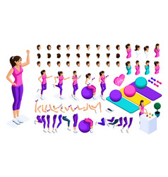 isometrics create your athlete a large vector image