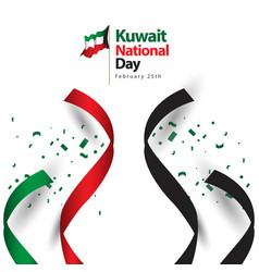 Kuwait national day template design vector
