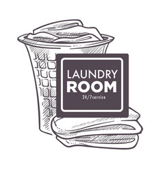 laundry room open 24 7 daily everyday public vector image