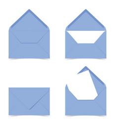 Letter envelope in blue color on white vector