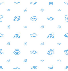 Little icons pattern seamless white background vector