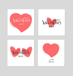 lovely valentine s day vector image