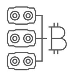 mining hardware thin line icon money vector image