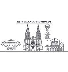 netherlands eindhoven line skyline vector image