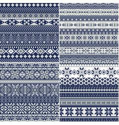 nordic style christmas snowflake jacquard vector image