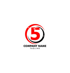 number five logo logo 5 template vector image