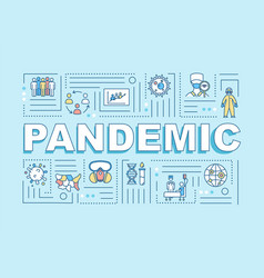 Pandemic word concepts banner contagious virus vector