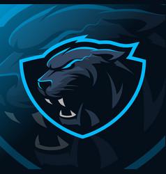 panther mascot logo esport vector image