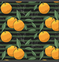 pattern of hand drawn oranges slices vector image