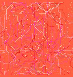 pink map of subway vector image