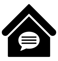 Realty message flat icon vector