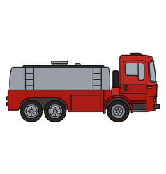 red tank truck vector image