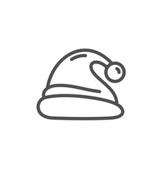 santa hat line icon christmas or new year sign vector image