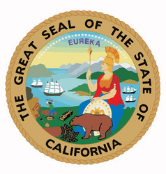 Seal of the state of california vector