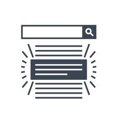 Search result glyph icon vector