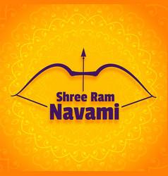 shree ram navami festival greeting design vector image