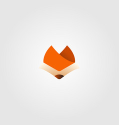 simple fox head logo icon design vector image