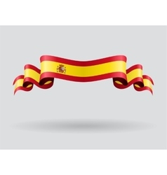 Spanish wavy flag vector