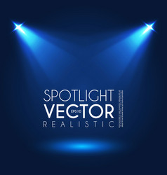 Spotlight transparent light effect show design vector