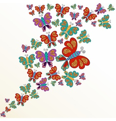 Spring butterfly splash vector image