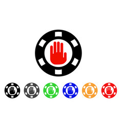 stop gambling chip icon vector image
