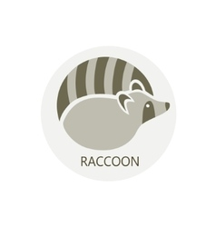 Stylized silhouette of a raccoon vector image
