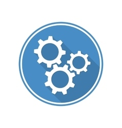 Symbol settings cogwheel vector image