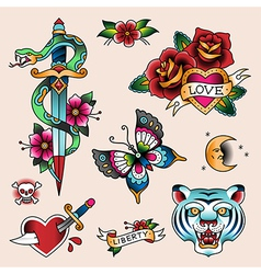 tattoo love vector image