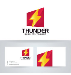 Thunder power logo design vector
