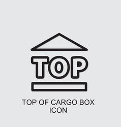 Top cargo box icon vector
