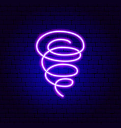 Tornado neon sign vector