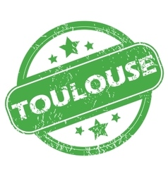 Toulouse green stamp vector image