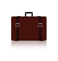 Travel bag with belts in brown color one variant vector
