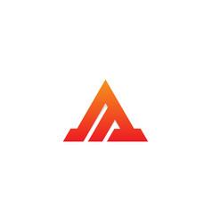 triangle shape line company logo vector image