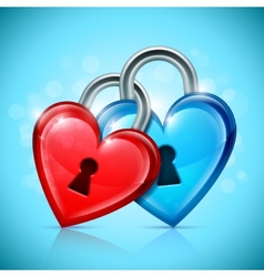 Two Heart Locks vector image