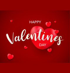 Valentines day background with balloons heart vector