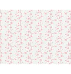 Vintage sakura floral pattern vector