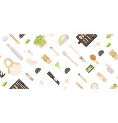 Zero waste background in minimalism style vector